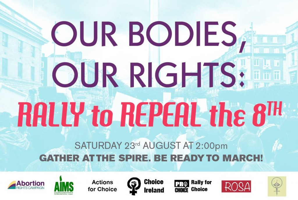 Our bodies Our Choice Rally to Repealthe8th