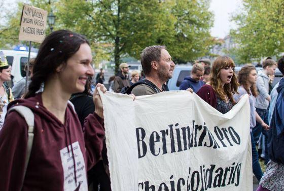 Marsch für das Leben counter demo: Berlin, September 2014