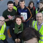 Canvassing members of Dundalk Together for Yes pictured in a group selfie