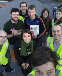 Group selfie of a Dundalk canvassing team during the campaign to repeal the 8th