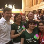 Kathy pictured with members of the Cork Together for Yes team